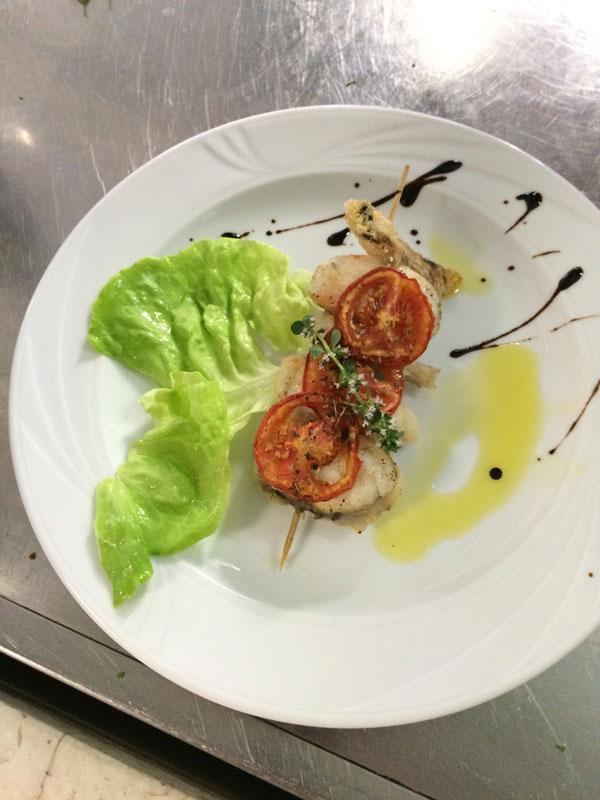 Piatto di pesce Hotel sul mare a Zadina di Cesenatico